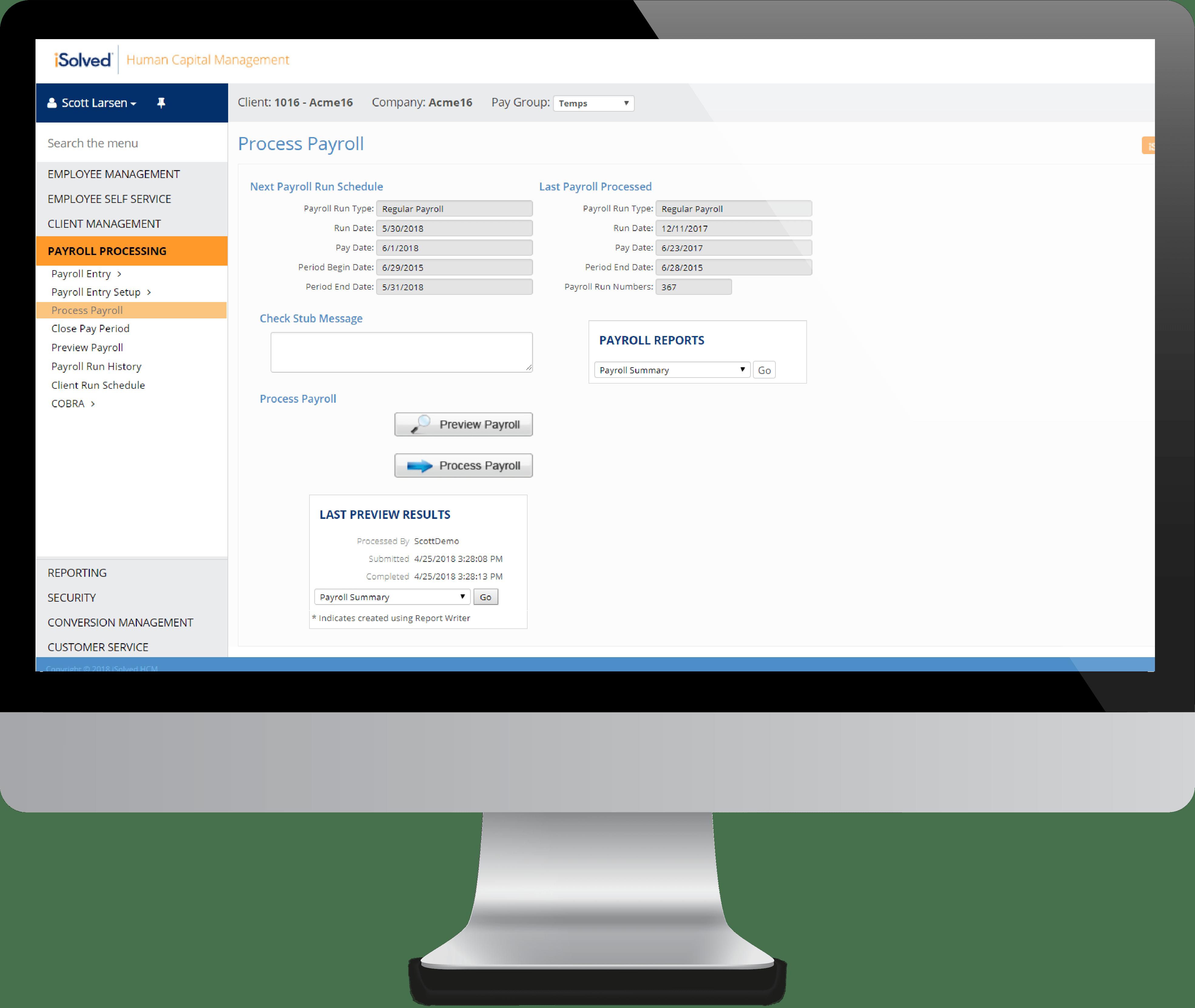 Process Payroll